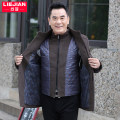 Jacket Strongjian / strong arrow Business gentleman M L XL XXL XXXL XXXXL thick easy Other leisure winter Wool 50% polyester 50% Long sleeves Wear out stand collar Business Casual middle age Medium length Single breasted Cloth hem No iron treatment The appearance is loose and the inside is closed