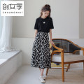 skirt Summer 2020 S M L A-line skirt (black) A-line skirt (white) Mid length dress commute High waist A-line skirt Decor 18-24 years old Q51332 More than 95% Women's season polyester fiber printing Polyester 100% Offline only (only offline o2o sales)