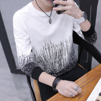 T-shirt Youth fashion 619 black 619 white 619 gray 617 black 617 white 617 gray w750 black w750 white w750 green 619 black (cashmere) 619 white (cashmere) 619 gray (cashmere) pure white T-shirt routine M L XL 2XL 3XL The Yi people of the Tao family Long sleeves Crew neck Self cultivation 619-11 youth