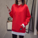 T-shirt gules M L XL XXL Autumn of 2018 Long sleeves Hood Fake two pieces Regular routine commute cotton 86% (inclusive) -95% (inclusive) 25-29 years old Korean version Diwei Cotton 90% polyurethane elastic fiber (spandex) 10% Pure e-commerce (online only)