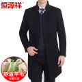 woolen coat 165/84A 170/88A 175/92A 180/96A 185/100A 190/104A hyz  Business gentleman Wool 98% other 2% Short wool Fall 2017 Medium length go to work standard Pure e-commerce (online only) middle age Hoodless stand collar Single breasted Business Casual Solid color Straight hem wool More than 95%