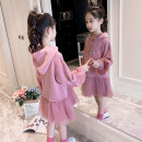 Dress Pink Collection Plus priority delivery female Xomowell / Magic Other 100% spring and autumn Korean version Long sleeves Solid color cotton A-line skirt qz19862 Class B Chinese Mainland Zhejiang Province