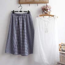 skirt Summer 2021 Average size blue Middle-skirt commute Natural waist A-line skirt lattice Type A 18-24 years old 51% (inclusive) - 70% (inclusive) other hemp Gauze literature 161g / m ^ 2 (including) - 180g / m ^ 2 (including)