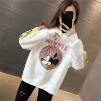Sweater / sweater Spring 2021 Pink Blue White Black S M L XL Long sleeves routine Socket singleton  Plush Crew neck easy routine Cartoon animation 18-24 years old 96% and above Yamais / yamas other printing cotton Cotton liner Other 100% Pure e-commerce (online only)
