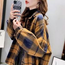 shirt Ginger black red Average size Autumn 2020 other 96% and above Long sleeves commute Regular Polo collar routine lattice 18-24 years old Straight cylinder Yamais / yamas Korean version Button Other 100% Pure e-commerce (online only)