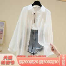 Lace / Chiffon Summer 2020 White apricot yellow black Average size Long sleeves commute Cardigan singleton  easy Medium length Polo collar Solid color shirt sleeve 18-24 years old Yamais / yamas YMS-N645 Korean version Other 100% Pure e-commerce (online only)