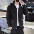 Jacket Youth fashion routine standard Other leisure autumn Polyester 100% Long sleeves Wear out Hood tide youth routine Zipper placket Cloth hem No iron treatment Closing sleeve Solid color polyester fiber Autumn of 2019 Zipper decoration Cover patch bag Pure e-commerce (online only) polyester fiber