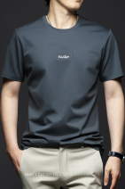 T-shirt Fashion City Apricot, dark grey, Navy, grass green thin M,L,XL,2XL,3XL,4XL,5XL Others Short sleeve Crew neck Self cultivation Other leisure summer youth routine Basic public 2021 Solid color Embroidered logo No iron treatment Fashion brand