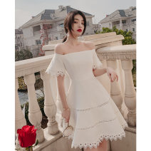 Dress / evening wear Weddings, adulthood parties, company annual meetings, daily appointments XS S M L XL XXL White 88953 grace Short skirt High waist Spring 2020 Skirt hem One shoulder zipper 18-25 years old Solid color Yucheng / Yucheng pagoda sleeve Pure e-commerce (online only)