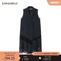 Vest Autumn of 2019 I35 polar dark grey XS S M L XL Medium length V-neck stripe No buckle S3DMJ1002 other Donoratico/ danyan nylon Same model in shopping mall (sold online and offline)