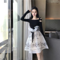 skirt Summer 2020 S M longuette commute High waist A-line skirt Solid color 18-24 years old 81% (inclusive) - 90% (inclusive) Chiffon Girl number one polyester fiber Splicing Pure e-commerce (online only)