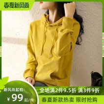 Sweater / sweater Autumn 2020 S M L XL 2XL 3XL Long sleeves routine Socket singleton  Thin money Hood easy routine Solid color 25-29 years old 96% and above cotton Drawstring cotton Cotton liner Cotton 100%