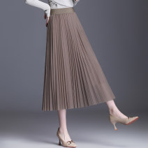 skirt Spring 2021 Average size Pink gray Khaki apricot black longuette commute High waist Pleated skirt Solid color Type A HX--20165 51% (inclusive) - 70% (inclusive) Halnsshey / Han Si polyester fiber fold Polyester 68% viscose 32% Pure e-commerce (online only)