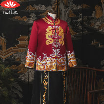 Tang costume Making clothes with flowers G Longxiang men's wear S M L XL XXL T1151 youth wedding