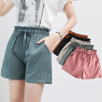 Casual pants SMLXL Summer of 2018 shorts Wide leg pants High waist Versatile 18-24 years old 71% (inclusive) - 80% (inclusive) Y18B099 Yi Jie pocket