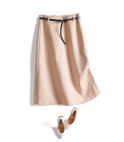 skirt Autumn of 2019 M,L,XL Apricot, grey Mid length dress commute Natural waist A-line skirt lattice Type A 71% (inclusive) - 80% (inclusive) polyester fiber Ol style