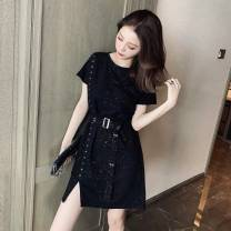 Dress Summer 2020 Black, white vest M,L,XL,2XL,3XL,4XL singleton  commute 18-24 years old Other / other Korean version 31% (inclusive) - 50% (inclusive) other