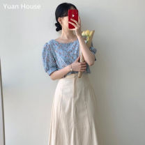 Fashion suit Summer 2020 S,M,L,XL Shirt, skirt 18-25 years old Other / other 96% and above cotton