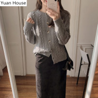 Fashion suit Winter 2020 S,M,L,XL Black skirt for belt, gray sweater, gray sweater + black skirt for belt 18-25 years old Other / other