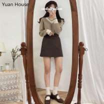 Fashion suit Winter 2020 S,M,L,XL Beige sweater + brown skirt, beige sweater + beige skirt, brown sweater + beige skirt 18-25 years old 51% (inclusive) - 70% (inclusive)