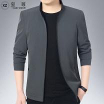Jacket Xi Zun Fashion City 170/M 175/L 180/XL 185/XXL 190/XXXL 195/XXXXL 200/5XL thin standard Other leisure spring XZ-D69003 Polyamide fiber (nylon) 84% polyurethane elastic fiber (spandex) 16% Long sleeves Wear out stand collar Business Casual middle age routine Zipper placket Straight hem other