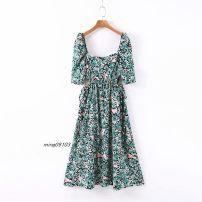 Dress Summer 2020 Picture color S,M,L Mid length dress singleton  Short sleeve