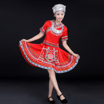 National costume / stage costume Autumn 2016 Rose red a rose red B red a red B blue S M L XL XXL XXL XXXXL XXXXL customized, non refundable HWY0904 Flower dance 18-25 years old Other 100% Pure e-commerce (online only)