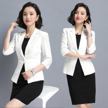 Professional dress suit S M L XL XXL Spring 2021 three quarter sleeve Coat other styles A-line skirt 25-35 years old Jin Yan Polyester 100% Pure e-commerce (online only) 96% and above