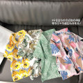 shirt Green leaves, white coconut trees, pink leaves Other / other male 80cm,90cm,100cm,110cm,120cm,130cm summer Short sleeve Korean version other cotton Lapel and pointed collar Cotton 90% other 10% ry2087 Class B