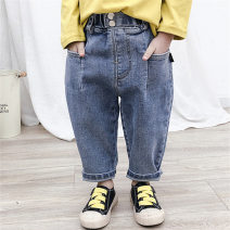 trousers Other / other female 80cm,90cm,100cm,110cm,120cm,130cm Blue, black spring and autumn trousers Korean version There are models in the real shooting Jeans Leather belt middle-waisted cotton Don't open the crotch Other 100% Class B * Chinese Mainland Zhejiang Province Huzhou City