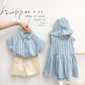 suit Other / other Blue and white neutral summer Korean version Short sleeve + pants 2 pieces Thin money No model Single breasted nothing stripe cotton Class B Other 100% 12 months, 2 years old, 3 years old, 4 years old, 5 years old, 6 years old Chinese Mainland Zhejiang Province Huzhou City