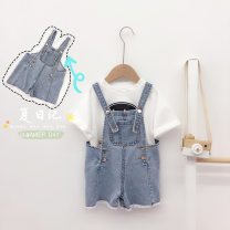 trousers Other / other female 80cm,90cm,100cm,110cm,120cm,130cm Denim blue summer shorts Korean version No model rompers Tether middle-waisted Denim Open crotch Other 100% RK2035 Class B * 12 months, 2 years old, 3 years old, 4 years old, 5 years old, 6 years old Chinese Mainland Zhejiang Province