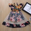 Dress Sapphire blue, white, red female Other / other 80cm, 90cm, 100cm, 110cm, 80-110 yards / 1 hand, 4 pieces Cotton 80% other 20% summer Europe and America Skirt / vest Broken flowers 12 months, 2 years, 3 years, 4 years