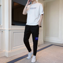 T-shirt Youth fashion thin M L XL 2XL 3XL 4XL Cshizcao / Chaoshi Short sleeve Crew neck easy daily summer Cotton 73% polyester 22% polyurethane elastane 5% teenagers Summer of 2019 other Pure e-commerce (online only)