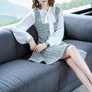 Dress Autumn of 2018 Picture color S M L XL Middle-skirt Two piece set Long sleeves commute other middle-waisted other other A-line skirt routine straps 30-34 years old Type A Luo Qingchuan Simplicity LQC18Q3309 More than 95% other polyester fiber Pure e-commerce (online only)