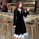 Dress Winter of 2019 black One size fits all, XXXs pre-sale Mid length dress singleton  Long sleeves commute pagoda sleeve Others 18-24 years old Other / other Korean version 30% and below other