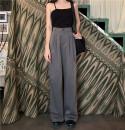 Casual pants Gray, black S. M, l, XXS pre-sale Summer 2020 trousers Wide leg pants High waist commute routine 18-24 years old 51% (inclusive) - 70% (inclusive) other Korean version pocket