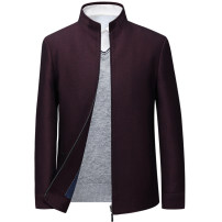 Jacket Tang diamond Business gentleman 170 175 180 185 190 195 thick easy Other leisure autumn Polyester fiber 80% polyurethane elastic fiber (spandex) 20% Long sleeves Wear out stand collar Business Casual middle age routine Zipper placket Cloth hem No iron treatment Loose cuff Solid color