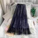 skirt Spring 2020 Average size Khaki black Mid length dress Sweet High waist Pleated skirt Solid color 18-24 years old Y218 More than 95% Chiffon Yinwei polyester fiber Polyester 100% Pure e-commerce (online only) princess