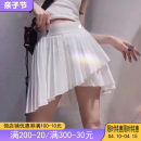 skirt Autumn of 2019 S,L,M Black, white longuette Sweet Pleated skirt Decor 18-24 years old other other printing