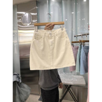 skirt Summer 2021 S,M,L,XL Blue, green, pink, beige Short skirt commute High waist A-line skirt Solid color Type A 18-24 years old 51% (inclusive) - 70% (inclusive) other pocket Simplicity