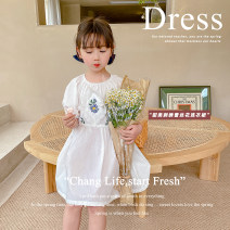 Dress White, blue female Other / other 80cm,90cm,100cm,110cm,120cm,130cm Other 100% summer princess Short sleeve other other A-line skirt AUT1524 12 months, 3 years, 6 years, 18 months, 2 years, 5 years, 4 years Chinese Mainland