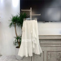 skirt Spring 2021 Average size White, black, dark apricot white, dark black longuette commute Natural waist A-line skirt Solid color Type A 25-29 years old other cotton Ruffles, folds Korean version