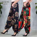 Middle aged and old women's wear Spring 2021, summer 2021, autumn 2021 ethnic style trousers easy singleton  Decor 40-49 years old thin pocket cotton trousers 251g / m ^ 2 (including) - 300g / m ^ 2 (including)