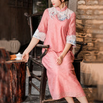 Hanfu 71% (inclusive) - 80% (inclusive) Spring 2021 Pink Blue S M L XL 2XL Tencel