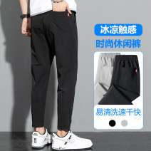 Casual pants Rubbing weaving Youth fashion 220 black 220 grey 221 black 221 grey 160/S 165/M 170/L 175/XL 180/2XL 185/3XL 190/4XL routine Ninth pants Other leisure Self cultivation MZKZ-918 teenagers tide Polyamide fiber (nylon) 90% polyurethane elastic fiber (spandex) 10% Solid color other other