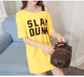 T-shirt 1732 white 1732 black 1732 yellow 1732 red M L XL XXL Summer 2017 Short sleeve Slant collar easy Medium length routine commute polyester fiber 86% (inclusive) -95% (inclusive) 18-24 years old Korean version originality letter Dai Meixin printing Pure e-commerce (online only)