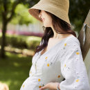 Dress Zhu Shi White [short] [recommended for less than 160 pregnant women] white [long] [recommended for more than 160 pregnant women] M L XL Korean version elbow sleeve routine summer V-neck Decor five thousand six hundred and thirty-six - one