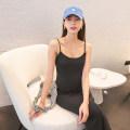 Dress Zhu Shi 0001 white [sling vest] 0001 black [sling vest] 5785 white [short] m / L pre-sale 5785 black [short] 5786 coffee [long] 5786 black [long] M L XL Korean version Sleeveless Medium length summer No collar Solid color