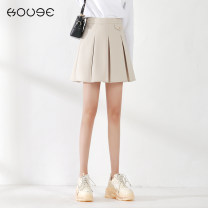 skirt Spring 2021 XS S M L XL 2XL BEIGE BLACK Short skirt commute High waist Pleated skirt Solid color Type A 18-24 years old 71% (inclusive) - 80% (inclusive) Kooge polyester fiber zipper Korean version Polyester 77% viscose (viscose) 17% polyurethane elastic (spandex) 6%